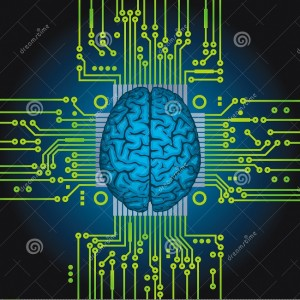 artificial-intelligence-human-brain-as-computer-central-processor-31164049