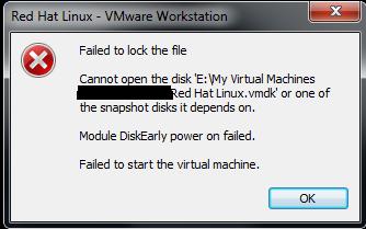 Failed to lock the file