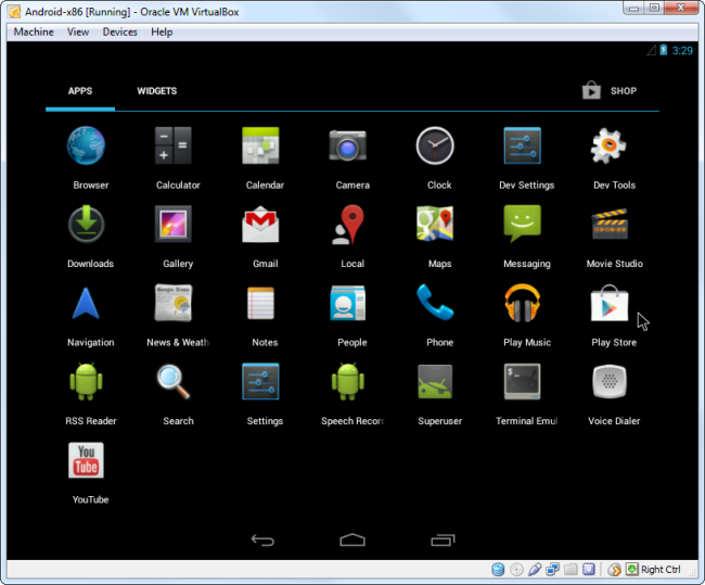 android-in-virtualbox